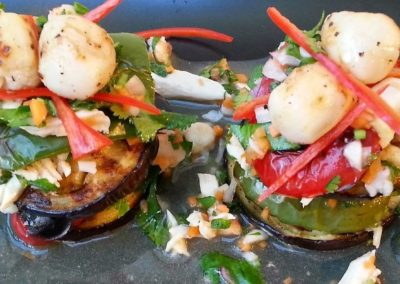 Spicy Seafood Salad (Yum Ma-Kheua  Muanng)