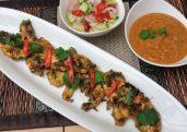 Chicken Satay (Satay Kai) & Cucumber Relish