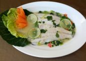 Steamed Fish in Chili and Lime Sauce (Plaa Neung Manow)