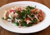 Seafood Salad with Glass Noodles (Yum Woon Sen)